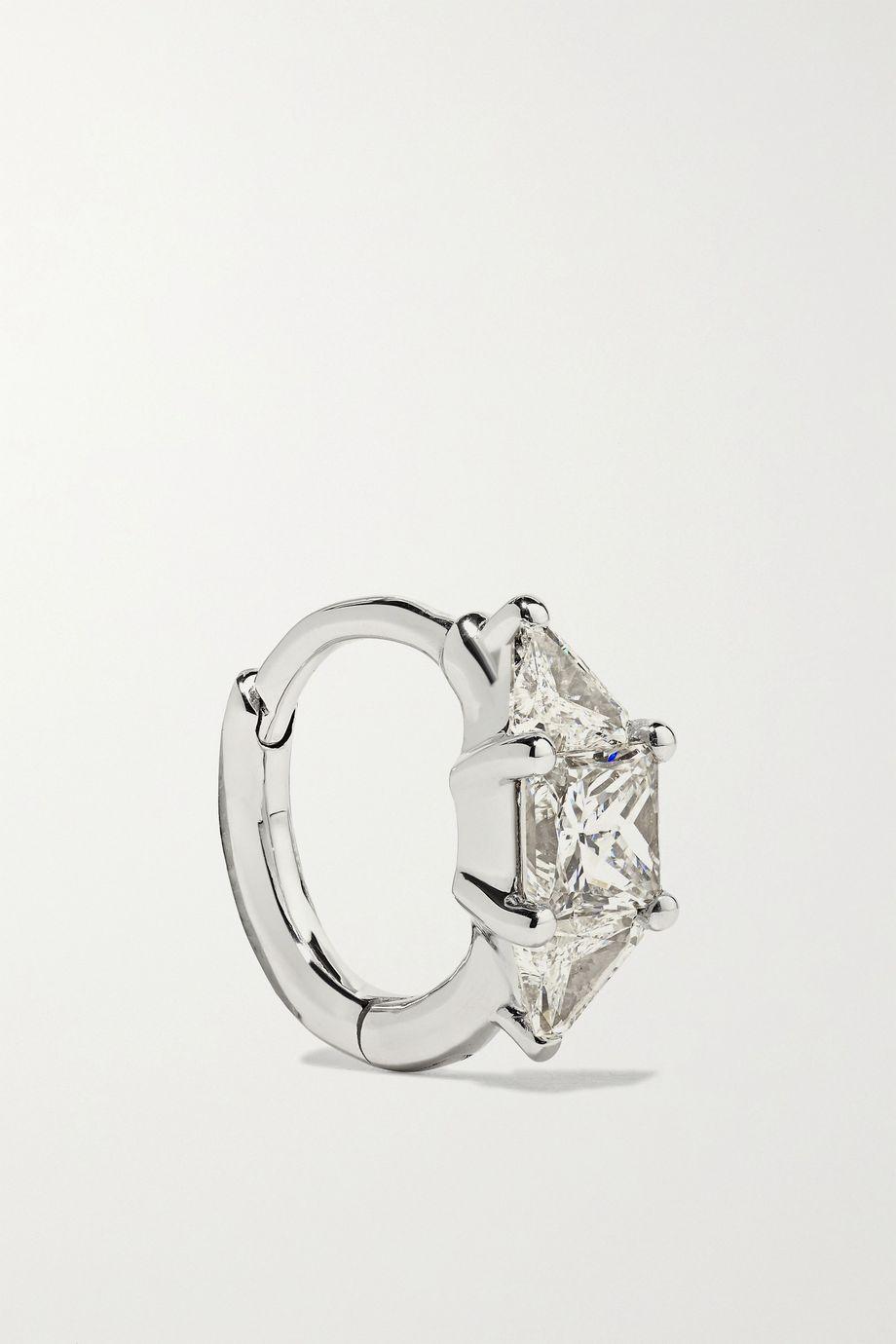 Maria Tash 6.5mm 18-karat white gold diamond hoop earring