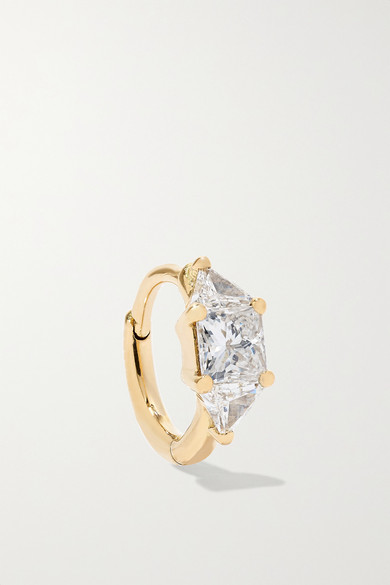 MARIA TASH 18-Karat Gold Diamond Hoop Earring