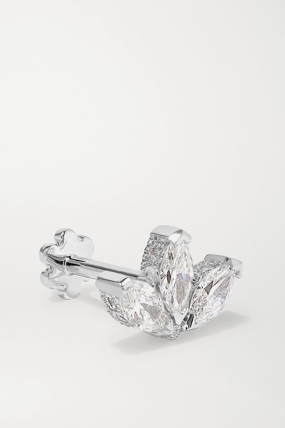 Maria Tash 4mm 18-karat white gold diamond earring