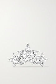 Maria Tash Star Garland 14-karat white gold diamond earring