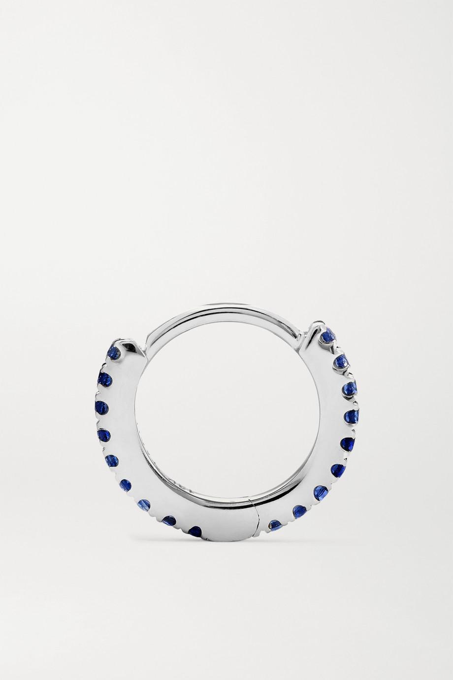 Maria Tash 6.5mm 14-karat white gold sapphire hoop earring