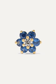 Maria Tash 5.5mm 18-karat gold, sapphire and diamond earring