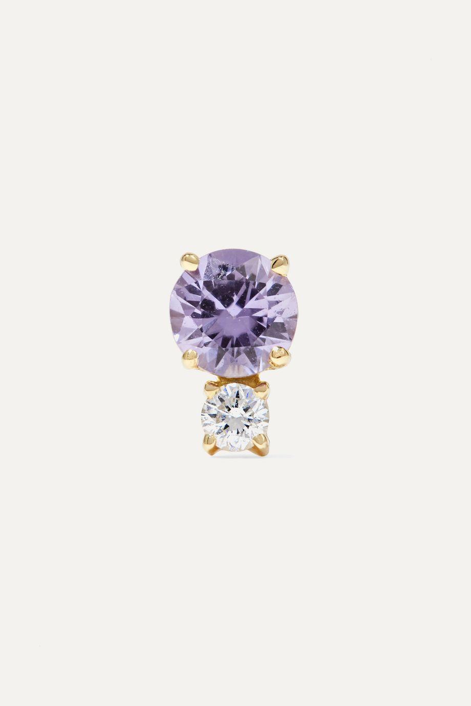 Jemma Wynne Ohrring aus 18 Karat Gold mit Saphir und Diamant