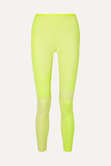 Nike Pants Tech Pack 2.0 neon mesh-paneled stretch leggings