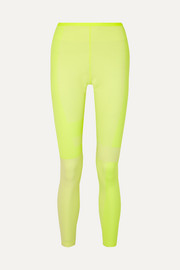 Nike Tech Pack 2.0 neon mesh-paneled stretch leggings