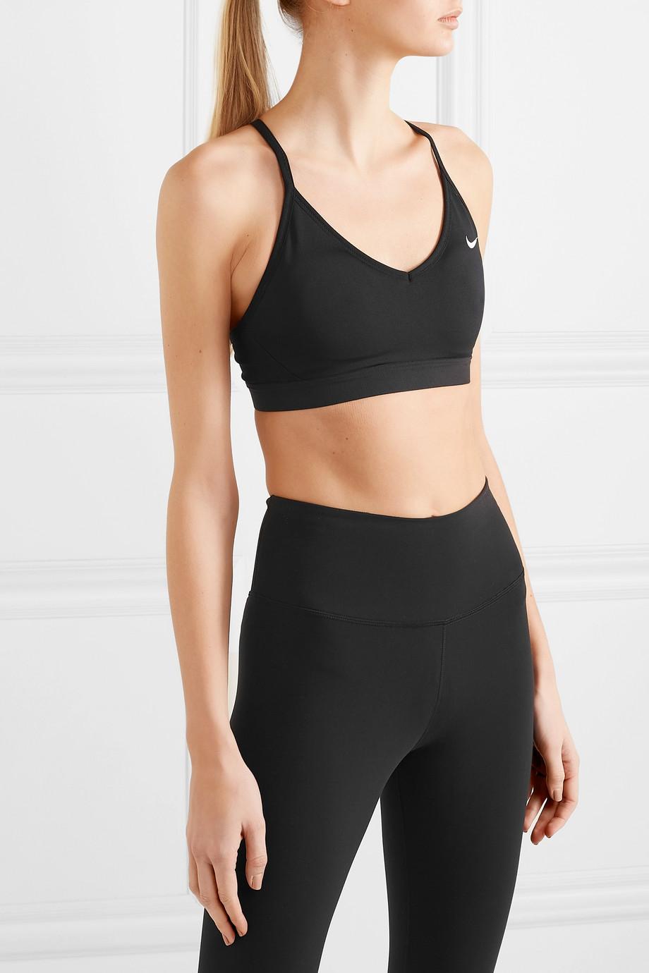 Nike Indy mesh-trimmed Dri-FIT sports bra