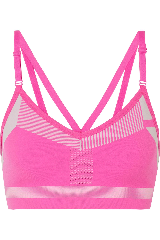Pink Indy Neon Flyknit Sports Bra Nike Net A Porter