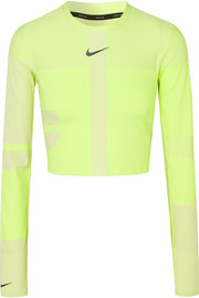 Nike Tech Pack 2.0 Run cropped neon stretch top