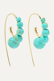 Nova 18-karat gold turquoise earrings
