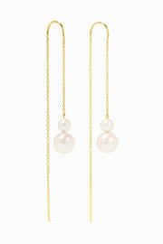 Nova 18-karat gold pearl earrings