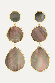 Polished Rock Candy 18-karat gold shell earrings