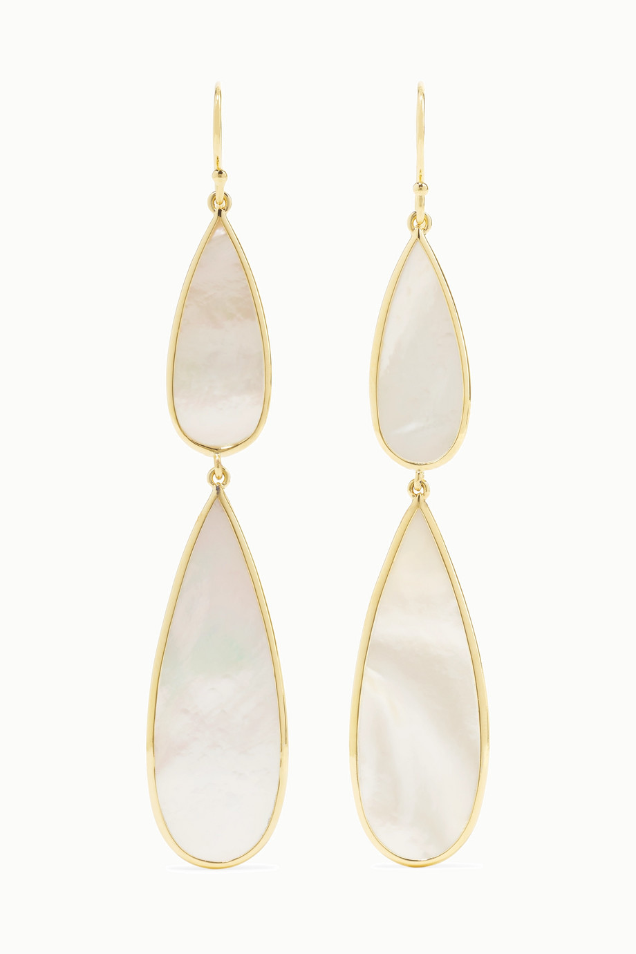 Ippolita Polished Rock Candy 18-karat gold mother-of-pearl earrings