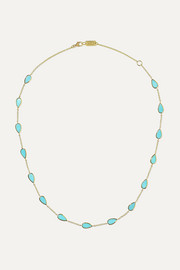 Ippolita Polished Rock Candy mini 18-karat gold turquoise necklace