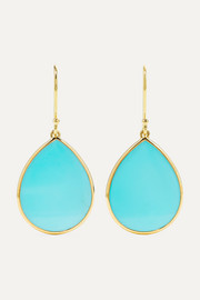 Ippolita Polished Rock Candy mini 18-karat gold turquoise earrings