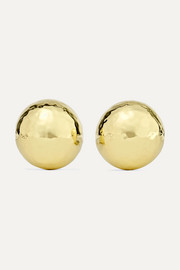 Classico Pinball 18-karat gold clip earrings