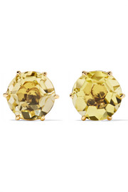 Rock Candy 18-karat gold citrine earrings