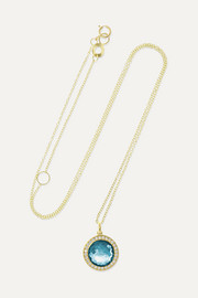 Ippolita Lollipop mini 18-karat gold, topaz and diamond necklace