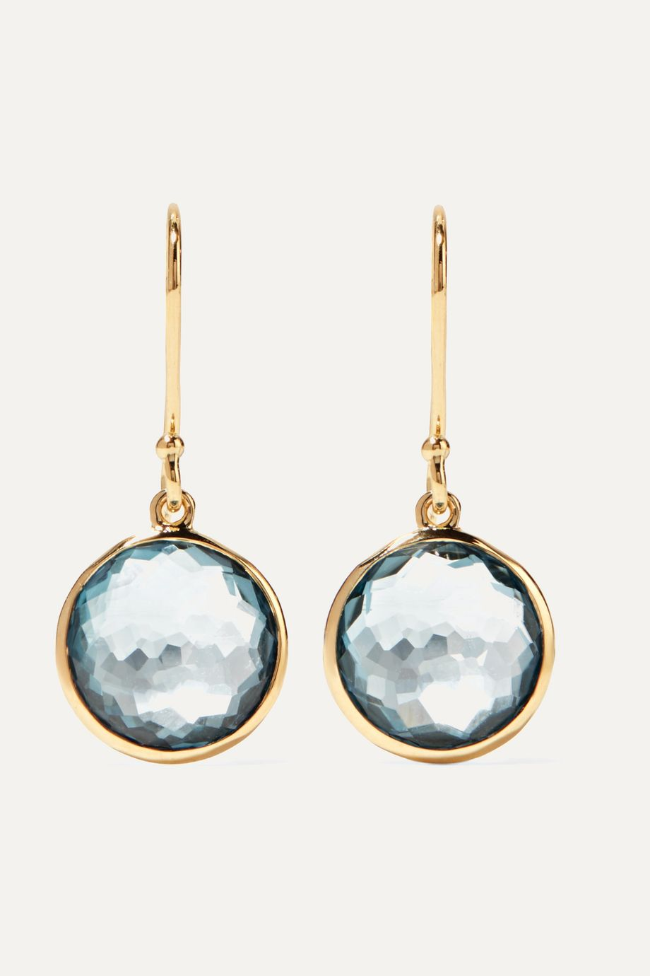 Ippolita Lollipop 18-karat gold topaz earrings