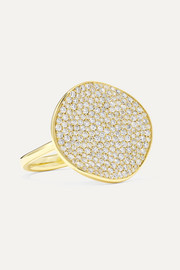 Stardust Flower 18-karat gold diamond ring