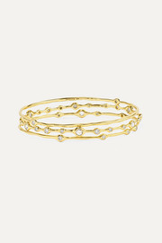 Stardust Superstar set of three 18-karat gold diamond bangles