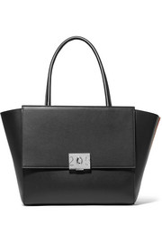 CALVIN KLEIN 205W39NYC Bonnie large grosgrain-trimmed leather tote