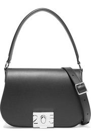 Bonnie grosgrain-trimmed leather shoulder bag
