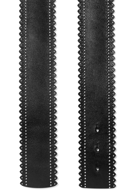 Alaïa Taillengürtel aus Leder mit Nieten