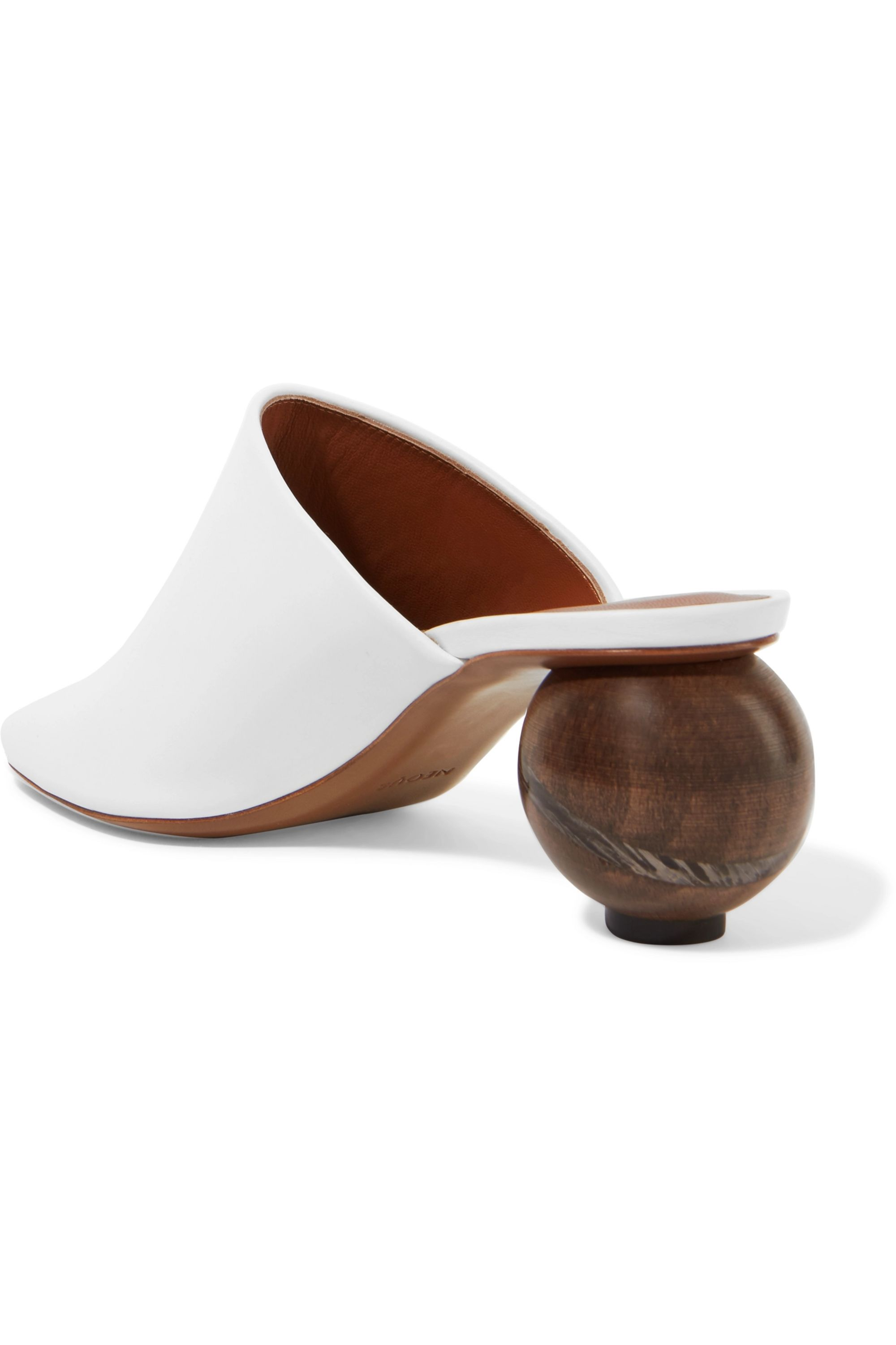 Neous Calanthe leather mules