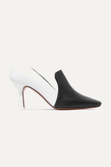 NEOUS Aerid Two-Tone Leather Pumps in White