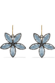 Larkspur & Hawk Sadie Astra rhodium-dipped quartz earrings