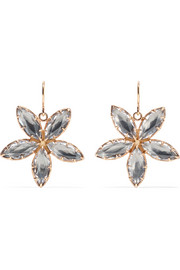Larkspur & Hawk Sadie Astra rose gold-dipped quartz earrings