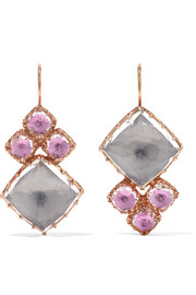 Larkspur & Hawk Sadie Cluster rose gold-dipped quartz earrings