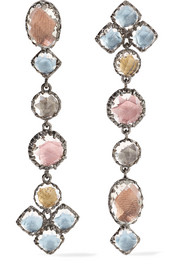 Larkspur & Hawk Sadie Shoulder Duster rhodium-dipped quartz earrings
