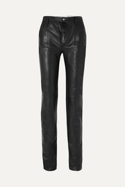 Mugler Reversible leather skinny pants