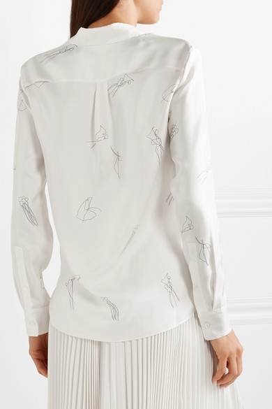 076a4342334569 Theory | Printed silk-twill shirt | NET-A-PORTER.COM