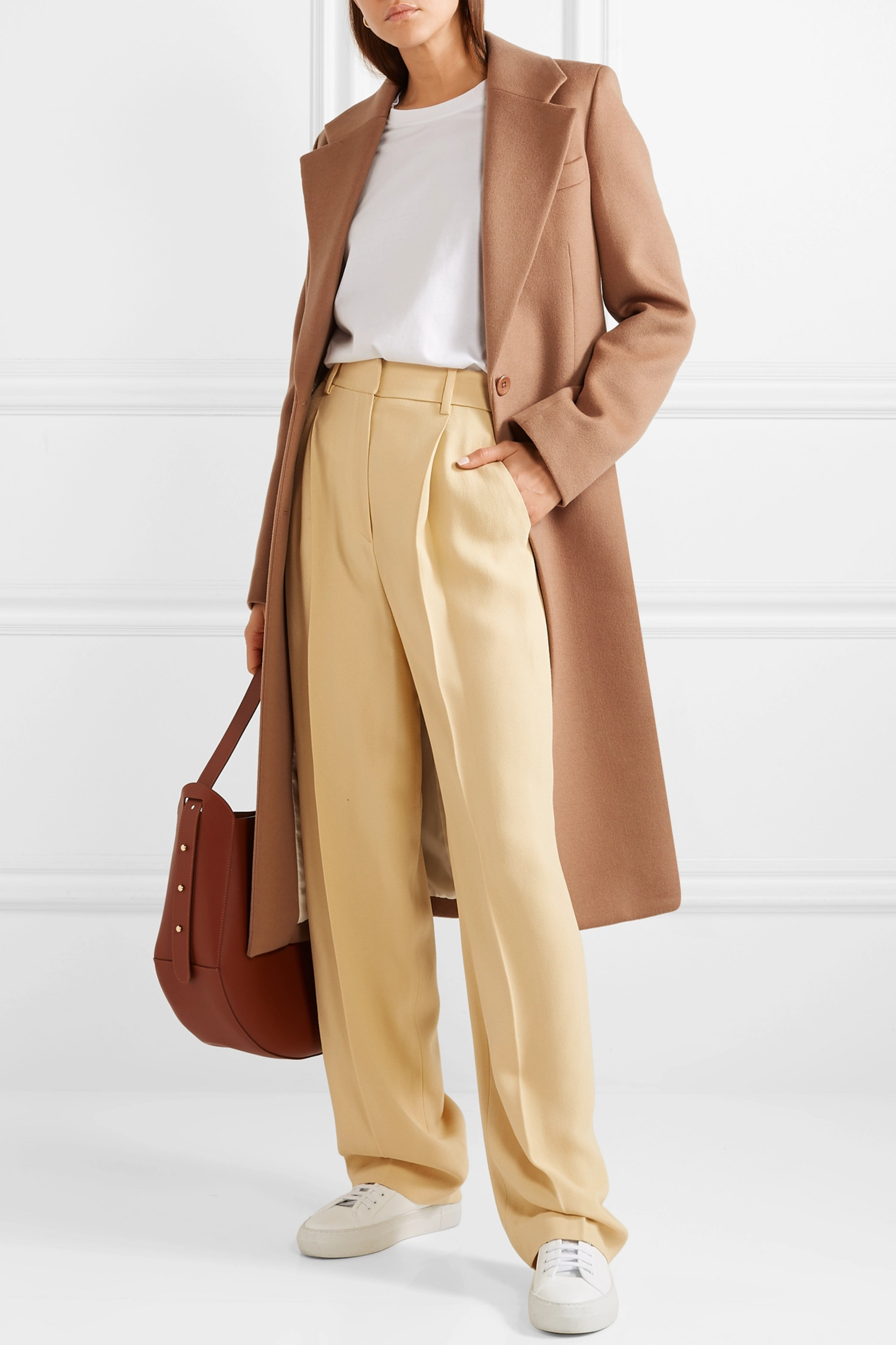 Theory Crepe wide-leg pants