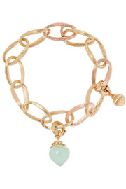 Love 18-karat yellow and rose gold aquamarine bracelet