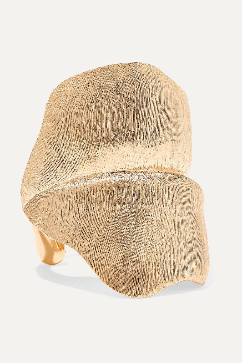 OLE LYNGGAARD COPENHAGEN Leaves large 18-karat gold ring