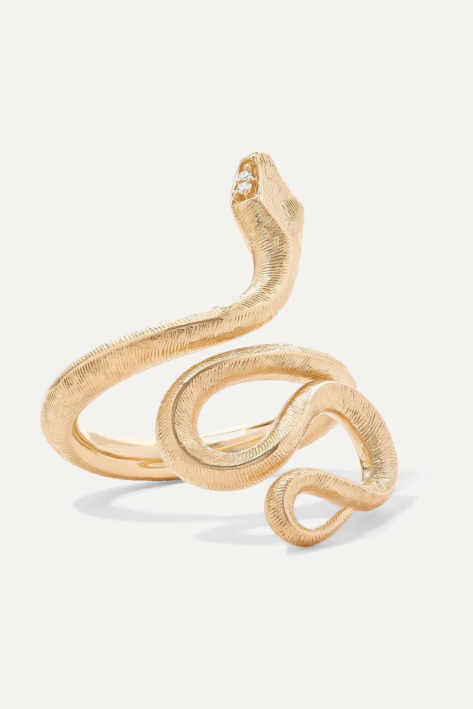 OLE LYNGGAARD COPENHAGEN Snake medium 18-karat gold diamond ring