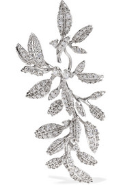 Winter Frost 18-karat white gold diamond earring