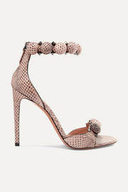 Bombe 110 studded watersnake sandals
