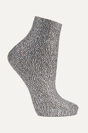 Universe metallic silk-blend socks