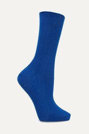 Ribbed organic cotton socks