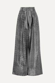 Christopher Kane Lamé wide-leg pants