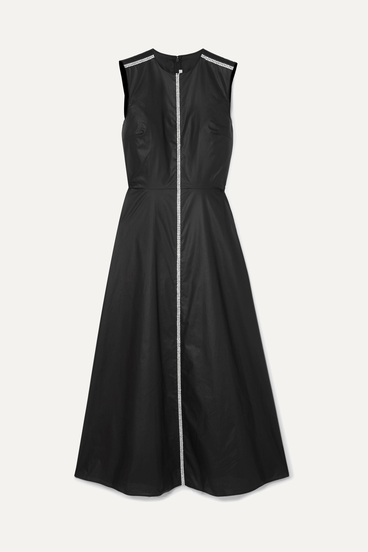 Christopher Kane Crystal-embellished coated-cotton midi dress