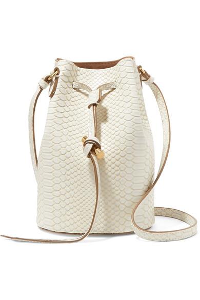 Croc Effect Faux Leather Bucket Bag by Stella Mc Cartney