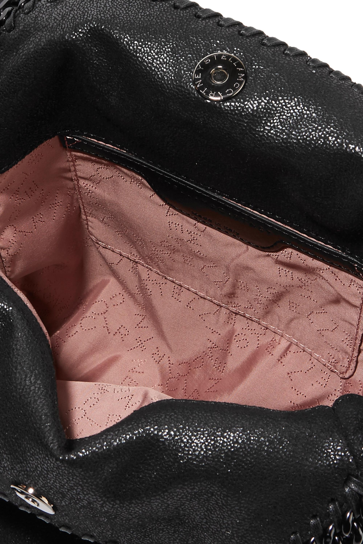 Stella McCartney Falabella mini Schultertasche aus gebürstetem Kunstleder