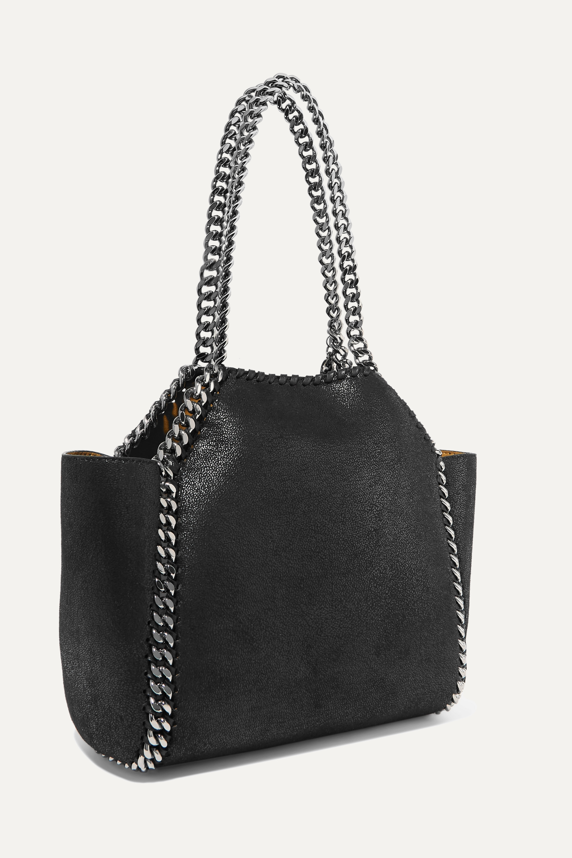 Stella McCartney The Falabella mini reversible faux brushed-leather tote