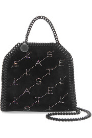 Stella McCartney The Falabella tiny crystal-embellished velvet shoulder bag