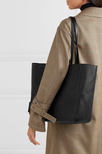 Stella Mccartney Bags Perforated faux leather tote